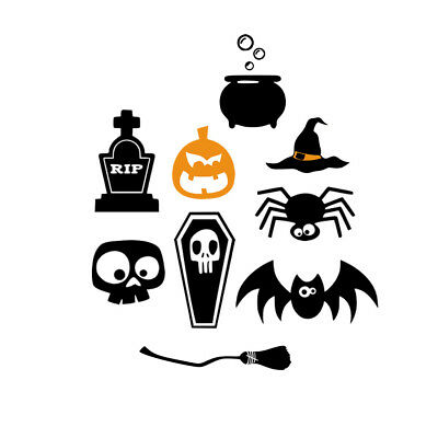 SET OF 9 DIY halloween Witchcraft Iron on Screen Print Transfer for Fabrics - Witchcraft On Halloween