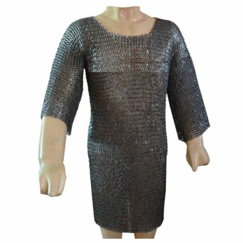 MS Flat Riveted with Flat Washer Chain Mail Shirt Medieval Chainmail Costume NKA