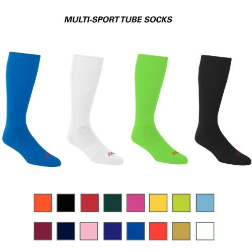 A4 Athletic Performance Cool Base Wicking All Sports Socks (16 Colors, 4 Sizes)
