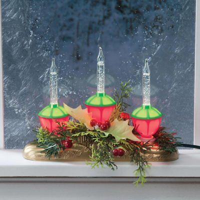 Christmas Lighted Centerpiece Decor Xmas Tabletop Old Fashioned Bubble Lights - Christmas Centerpiece Decorations