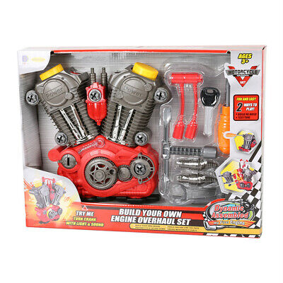 Motorcycle Set Toy Build Your Own Engine Overhaul Set Power Drill Kit for Boys](Building Kits For Kids)
