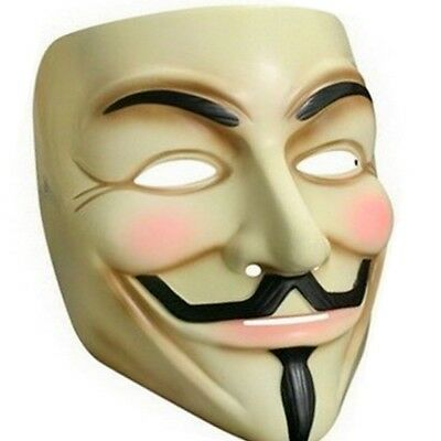 Anonymus Guy Fawkes Mask Creme Demo (V For Vendetta Guy Fawkes Maske)