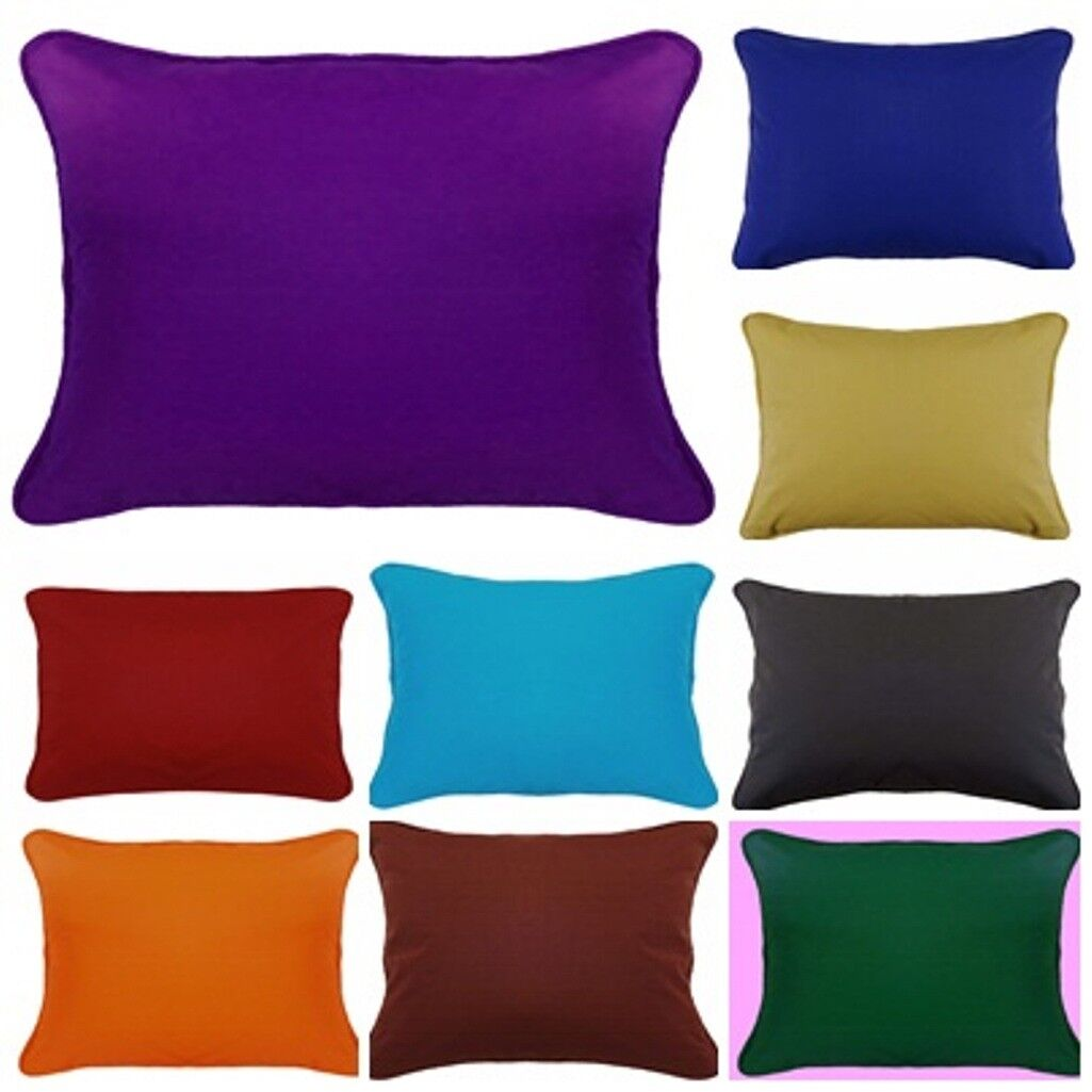 Body Pillow Cover Plain with Piping Zipper Standard / Queen