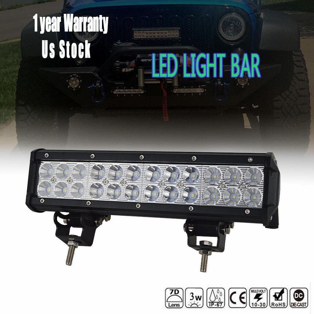 "12/"" 72W 7200LM Spot Flood Combo Led Work Light Bar for Honda TRX400EX TRX300EX"