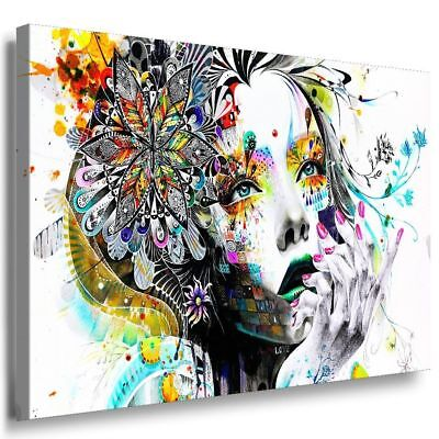 Frau Gesicht Abstrakt Leinwandbild Kunstdruck AK ART Keilrahmen - Abstrakte Frau Gesicht