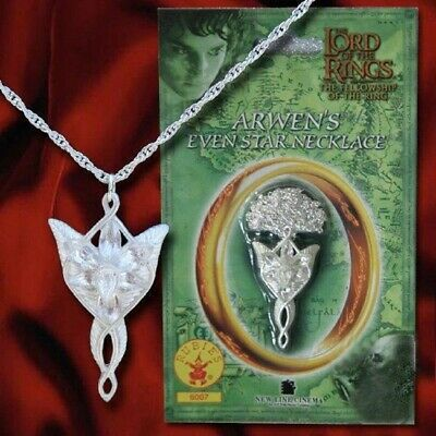 LOTR Arwen's Evenstar Necklace Halloween Costume Jewelry Rubies #6007 NEW Arwen Necklace Costume Accessory