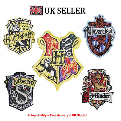 Hogwarts House DIY Embroidered Badge iron on / sew Fan art Griffindor Patch](Griffindor Patch)