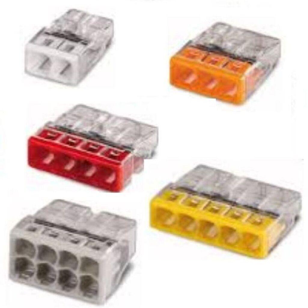 borne de connexion automatique 2/3/4/5/8 entrée wago réf 2273 de 10 à 100 pièces