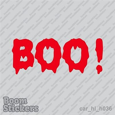 BUY 1 GET 1 FREE Blood BOO text Halloween Vinyl Decal Sticker BOGO