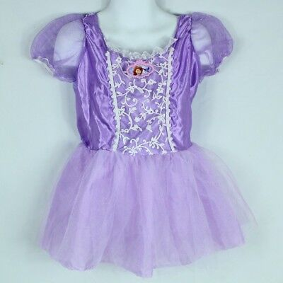 Sofia the First Child Costume Size Small Purple Dress Up Sparkly Disney ](Baby Sofia The First Costume)