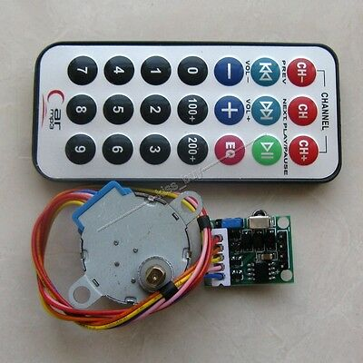 Dc 5v 4-phase 5-wire Stepper Motordriver Boardremote Control Wireless Rc