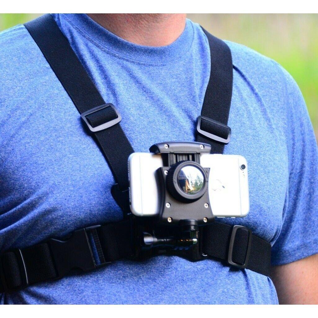 Phone Chest Mount Strap Smartphone Holder Universal GoPro He