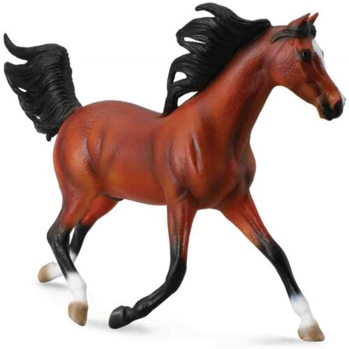 """CollectA Arabian Stallion Bright Bay (1:12 Scale) 6"""" figure scale Toy Horse"""
