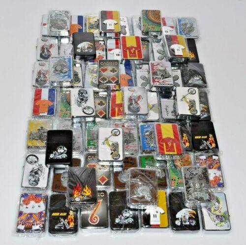 Brand New Lighter Empty Refillable Flip Top Metal Mix Lot Lighters