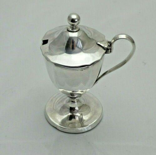 1794 Georgian Antique Solid Silver Mustard Jam Preserve Pot (1421-9-OON)