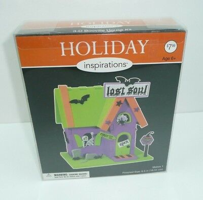 Halloween 3D Booville House Foam Craft Kit House Project Green Holiday Scary](Craft Foam Halloween Projects)