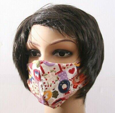 Neu mehrweg Gesichtsmaske Mund- und Nasenbedeckung  Patchwork - Rote Masken
