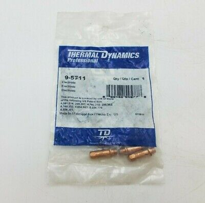 5 Pack Thermal Dynamics 9-5711 Electrode Multi Gas Pch-52 Pcm-52 Plasma Torches