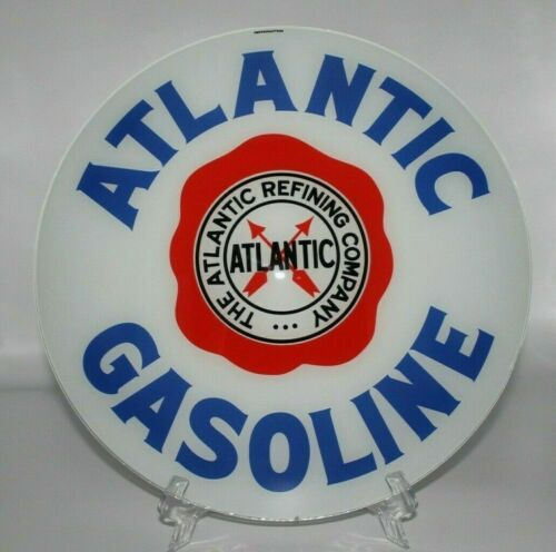 "15"" ATLANTIC GASOLINE Gas Pump Globe Lens (1)"