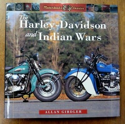 Harley & Indian motorcycle Wars hardbound Book Classic Vintage NOS out of print
