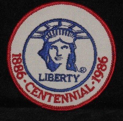 1986 Centennial Of The Statue Of Liberty Centennial Patch - (!886 to 1986)