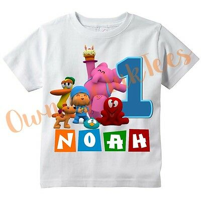 Pocoyo Number Custom t-shirt Personalize Birthday gift