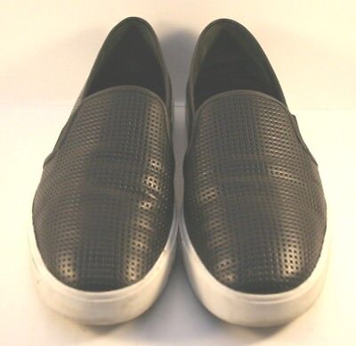 Vince Black Perforated Leather Blair 5 Slip On Fashion Sneaker Womens SIze US 8M