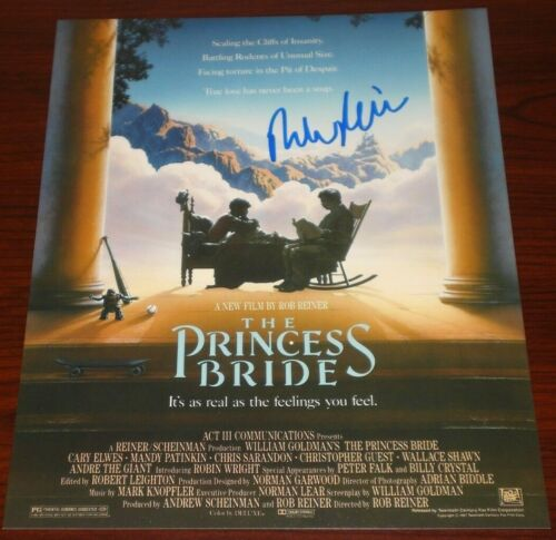 DIRECTOR ROB REINER SIGNED THE PRINCESS BRIDE POSTER 8X10 PHOTO AUTOGRAPH COA