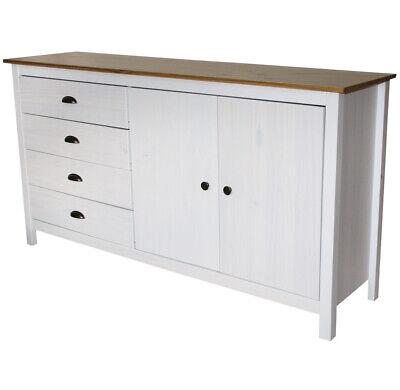 KMH® Sideboard Anrichte Lowboard Kommode Buffet Schrank Ablage weiss modern Holz