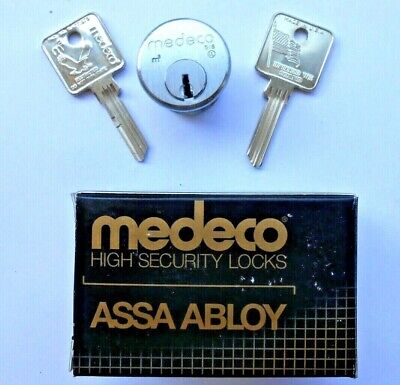 New Medeco 10t0100 Sub Assembled 1 Mortise Cylinder And  2 Key Blanks