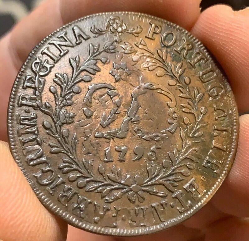 Azores 1795 - 20 Reis HIGH GRADE KM 3 Overstruck on a Portugese 10 Reis KM 306