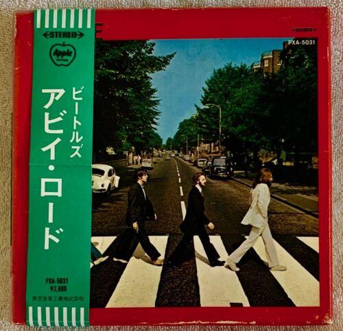 "BEATLES ""ABBEY ROAD"" ULTRA-RARE 1969 ORIGINAL JAPANESE 4-TRACK REEL TAPE W/OBI!!"