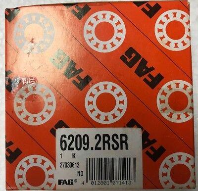 Size 6209-2RSR FAG New Single Row Ball Bearing 45mmX85mmX19mm