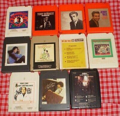 Lot of 11 8 Track Cassettes Elvis Abba Tony Bennett Jerry Vale Jane Olivor Como+