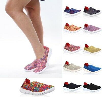 Beach Slip On (WP Womens Slip On Summer Beach Trainers Pump Ladies Mesh Breathable Loafer Shoes)