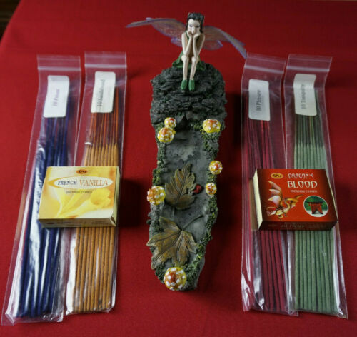 Fairy Mystical Magical Fantasy Incense and Cone Scented Holder with Incense