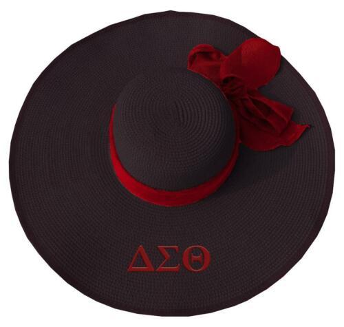 Delta Sigma Theta Sorority Floppy Hat- Black-New!