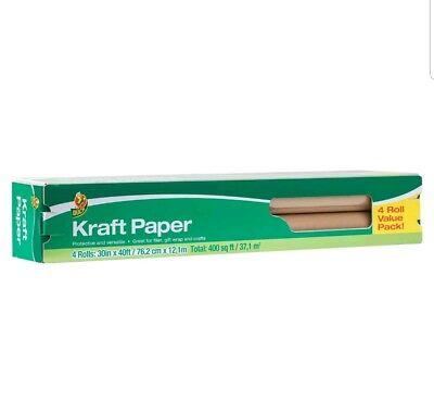 Duck Brand Kraft Paper Brown 30 X 40 Rolls 4 Pack