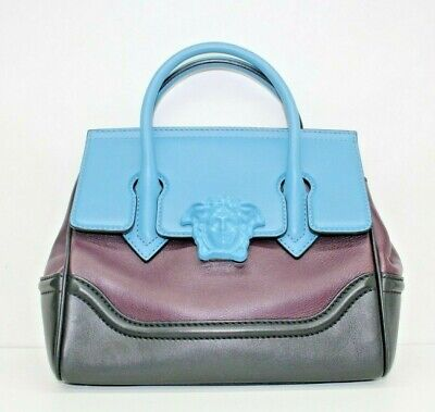 VERSACE Small Palazzo Empire Bag purple and blue (Versace Small Bag)