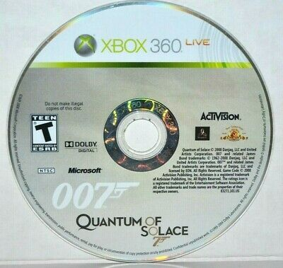James Bond 007: Quantum of Solace (Microsoft Xbox 360, 2008) Video Game