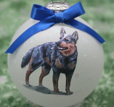 D091 Hand-made Christmas Ornament - Australian Cattle Dog Blue Heeler - standing Australian Cattle Dog Heeler