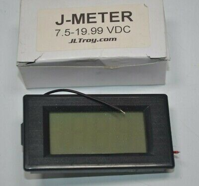Jl Troy J-meter Lcd Digital Panel Voltmeter 7.5-19.99 Vdc Monitor Voltage Meter