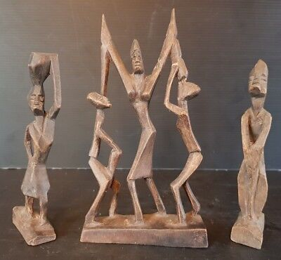 3 Statuettes Art African Ref 292739260656