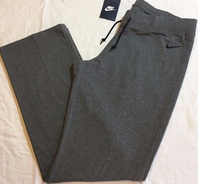 NIKE JERSEY Stretch Cotton Blend Fitness / Yoga pants - Women's XL Gray NWT Nike Stretch Jersey