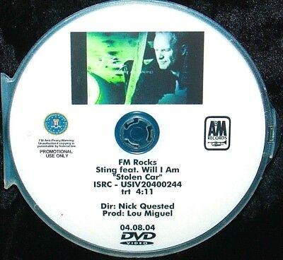 STING feat WILL I AM Stolen Car Promo Music Video DVD Single Black Eyed Peas