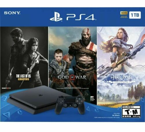 SONY PLAYSTATION 4 PS4 SLIM 1TB CONSOLE PS4 3 GAME BUNDLE - FREE Fast Shipping