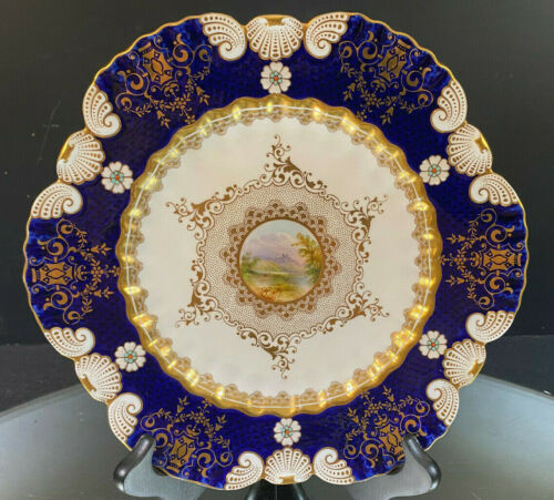 Coalport Hand-Painted Plate--Spectacular--Possibly The Best Ever--No Issues--