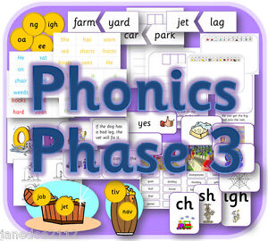 LETTERS And SOUNDS PHASE 3 Phonics Primary Teaching