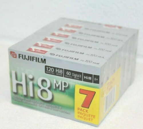 Pack of 7! FUJIFILM HI8 MP P6-120 PROFESSIONAL GRADE VIDEO CASSETTES, sealed!