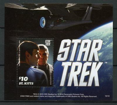 St Kitts 2016 MNH Star Trek 1v S/S Spock & Elder Spock Stamps